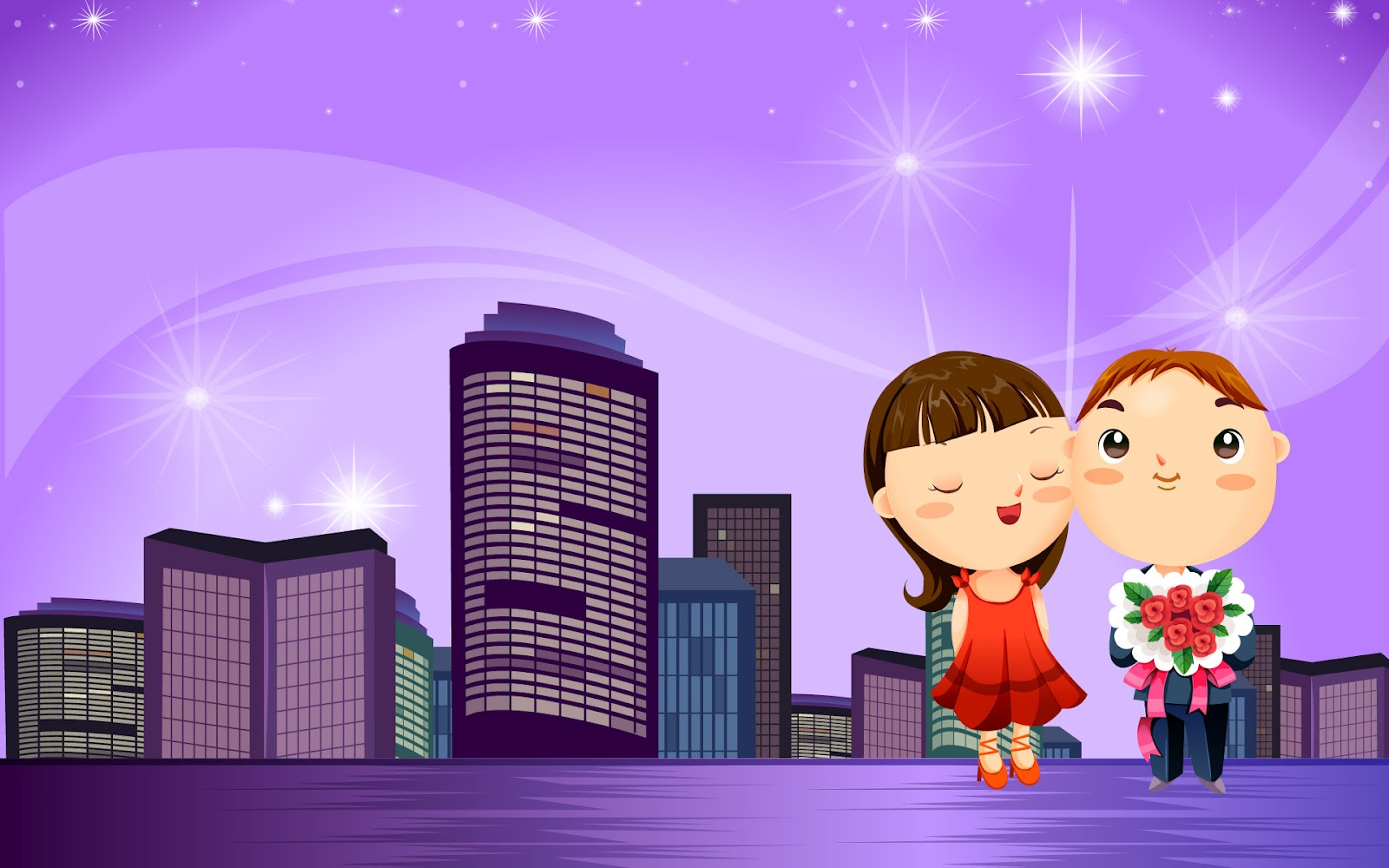 Romantic Love cartoon Wallpaper : cartoon Wallpapers: romantic cartoons hd wallpapers