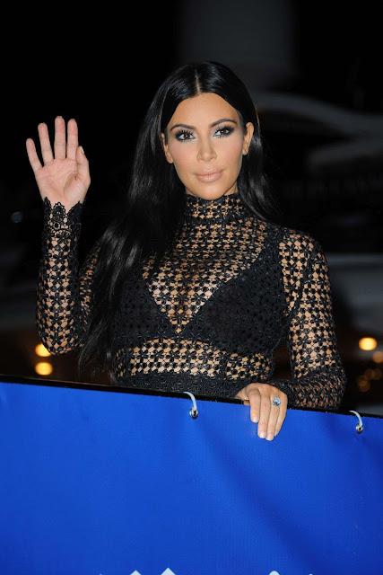 Kim Kardashian at DailyMail Yacht Party