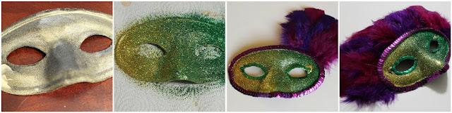 diy beaded mardi gras mask wreath