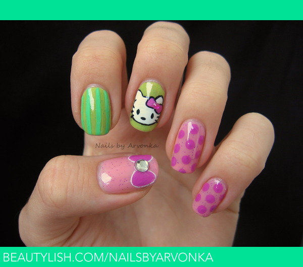 15 Diseños de Uñas Hello Kitty