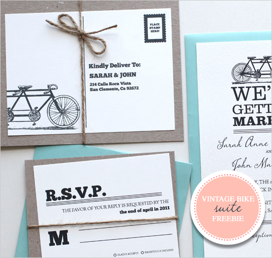 hills weddings events free vintage tandem bike wedding stationary
