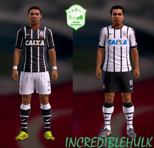 PES 2013 Corinthians Paulista Kits 2014 by incrediblehulk