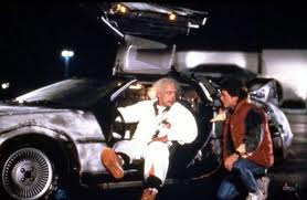scene from Back to the Future film