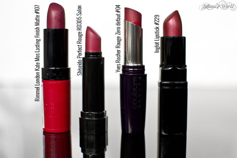 colectie rujuri berry Rimmel Shiseido Yves Rocher Inglot