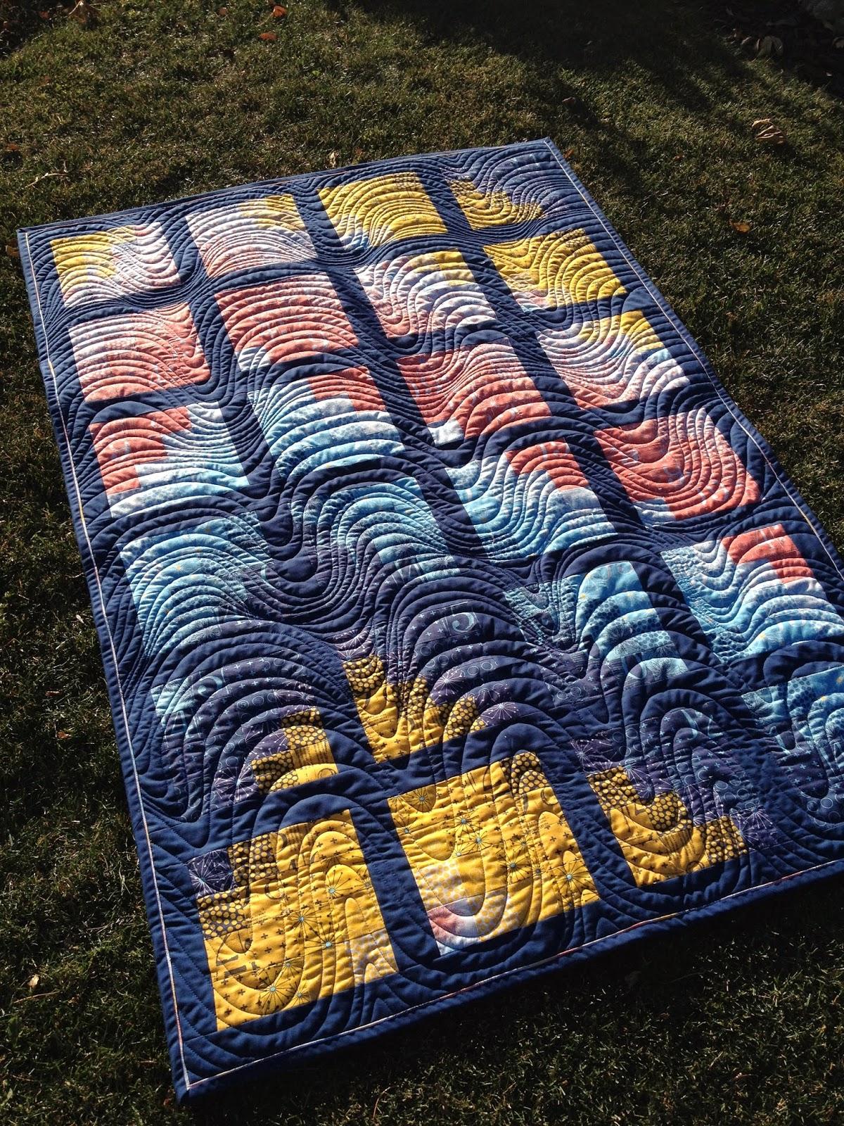 Urban Quiltworks Modern Bargello Quilt