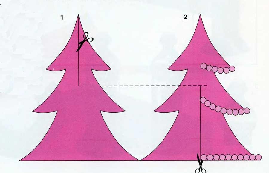 Бумажная елка  схемы 134