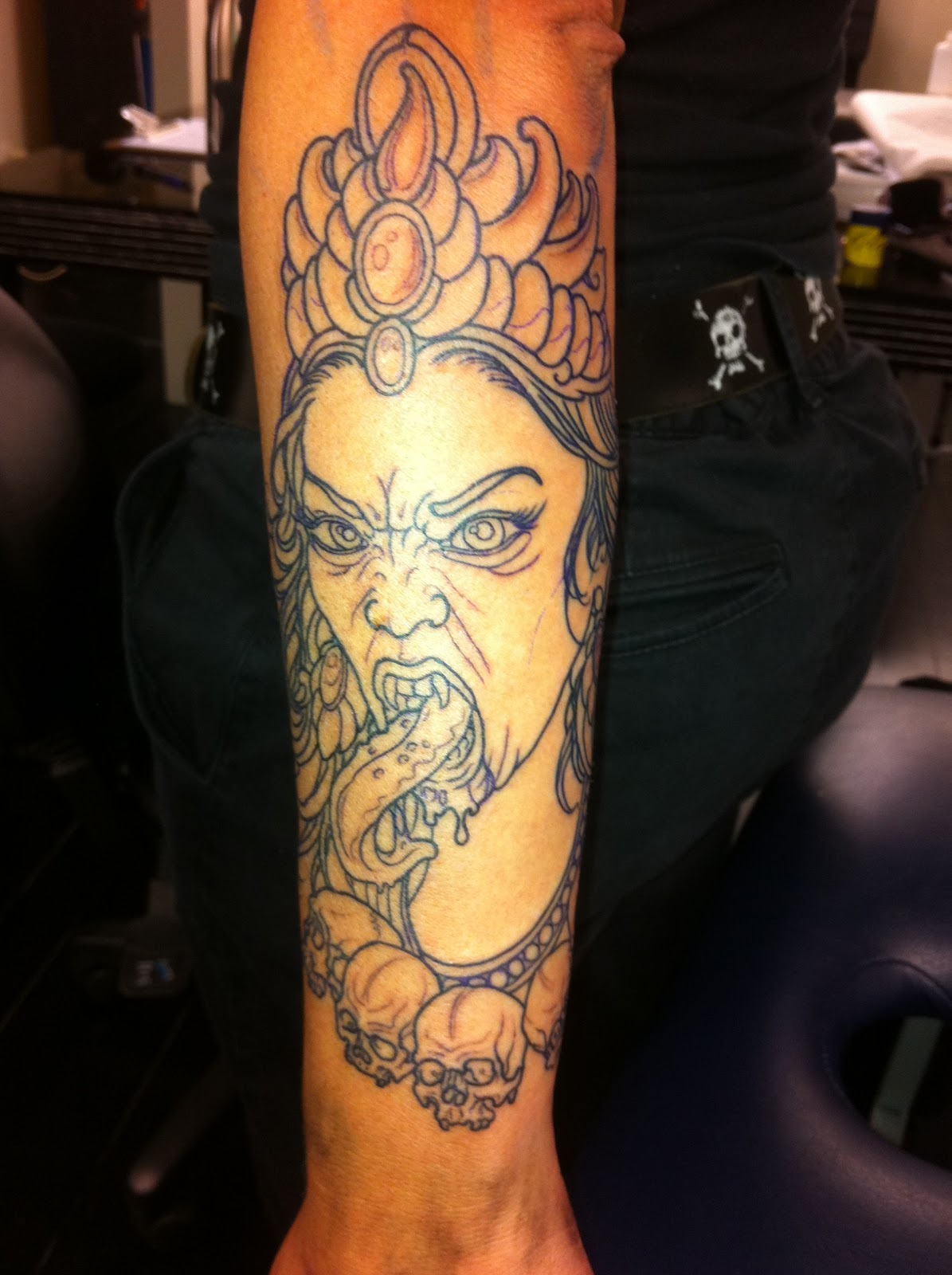 Medusa, Kali And Skull With Candle By Hamish Work In Progress