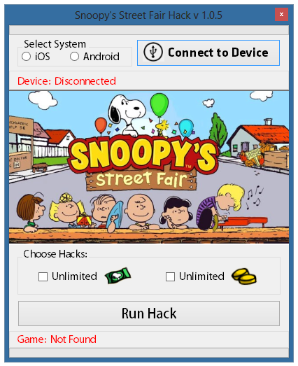 SNOOPYS STREET FAIR CHEATS
