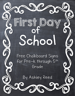 https://www.teacherspayteachers.com/Product/First-Day-of-School-Chalkboard-Signs-PK-5-FREEBIE-1977749