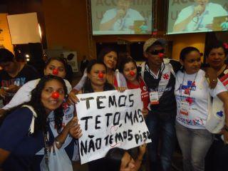 Manifestação em Brasilia na 14ª CNS