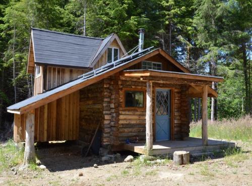 Lloyd S Blog 300 Sq Ft Rustic Cabin Solar Elec Close