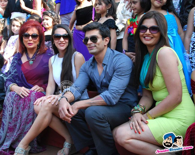 Karan Singh Grover with Tara Sharma and Deepshikha