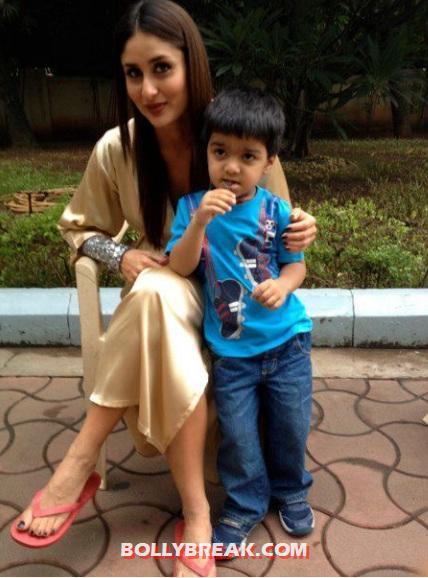 Kareena Kapoor With Madhur Bhandarkar Son On The Sets Of Heroine - 1 ...