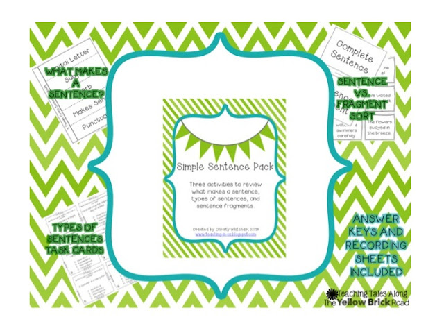 https://www.teacherspayteachers.com/Product/Simple-Sentence-Review-Pack-845075