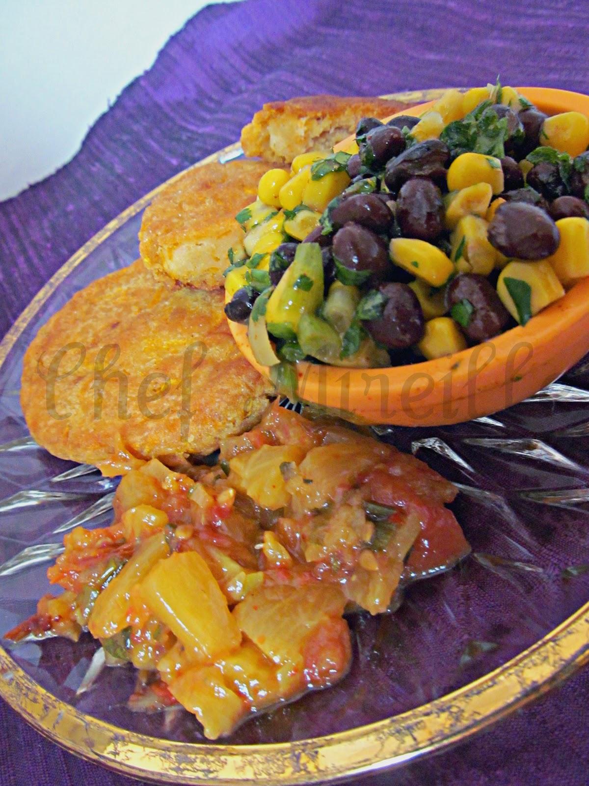 ... East West Realm: Pumpkin Arepas/ Arepas de Calabaza & Black Bean Salad