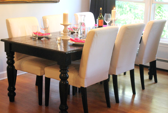 dining table room dining table set up