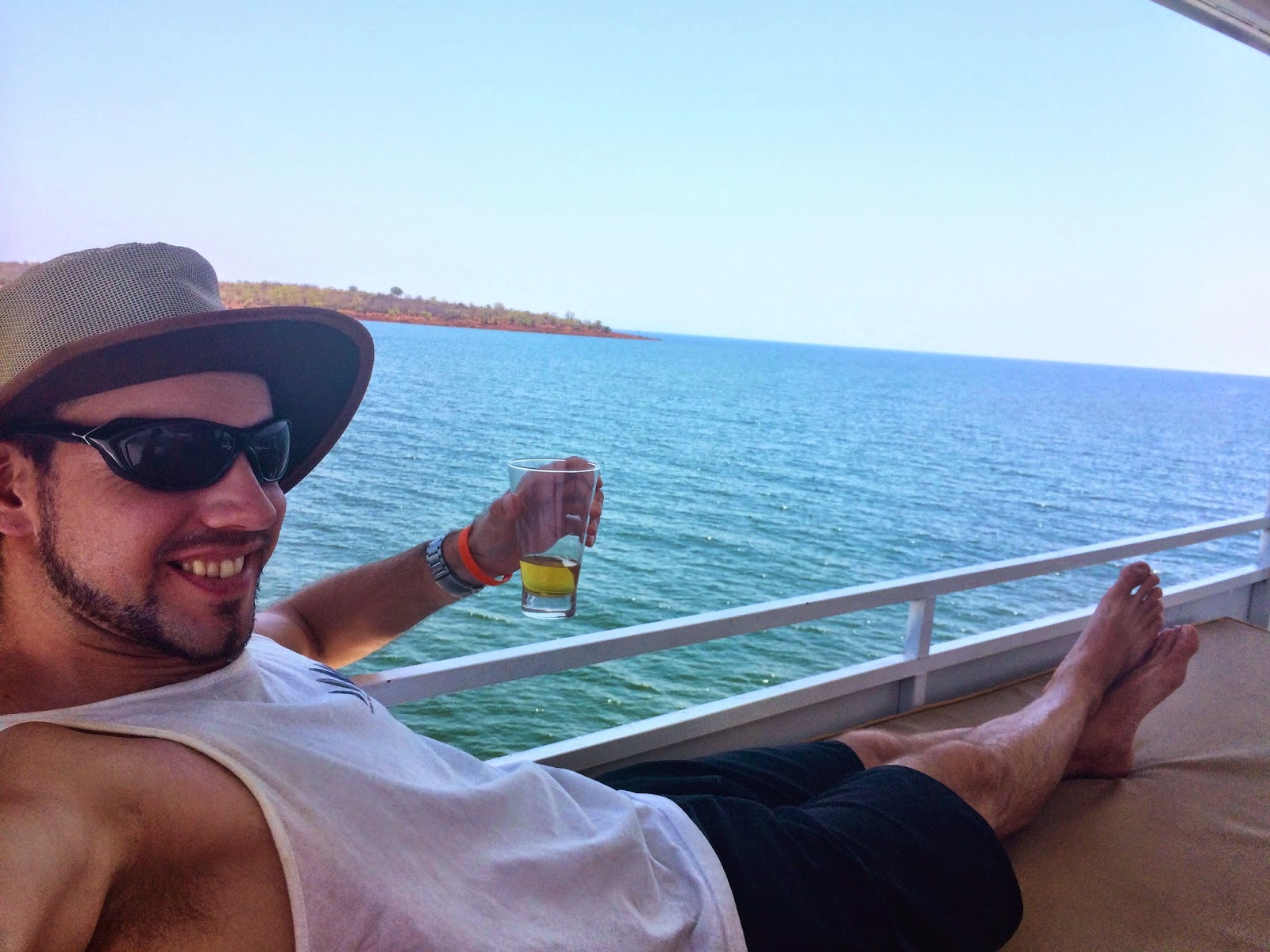 Enjoying time on the top deck - Umbozha, Lake Kariba