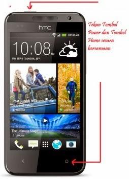 Cara Screen Shot Layar Android HTC