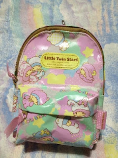 pizza-kei cute kawaii college pizza kei culture japanese adorable little twin stars backpack