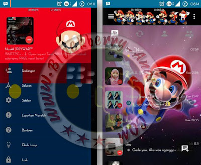 BBM Mod Mario Bross Themes New Version 2.10.0.35 Apk