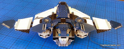 LEGO Avengers Quinjet 76032 rear view of plane