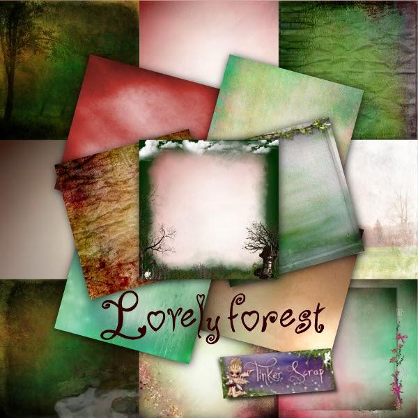 TinkerScrap_lovely+forest_PVPapiers dans Février
