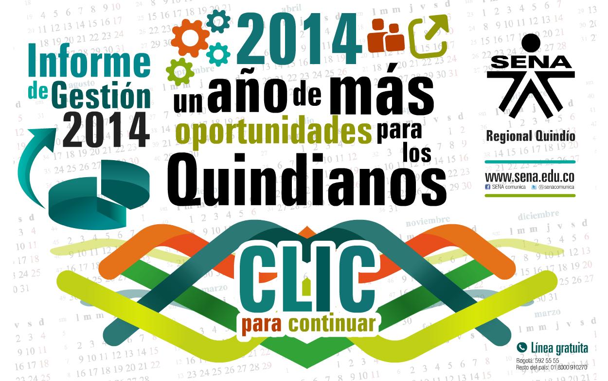 Informe de Gestión 2014 - Director SENA Regional Quindío