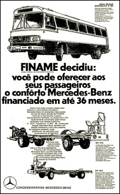 Mercedes-Benz, 1971; brazilian advertising cars in the 70s; os anos 70; história da década de 70; Brazil in the 70s; propaganda carros anos 70; Oswaldo Hernandez;.