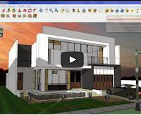 Video tutorial sketchup bangunan malam hari