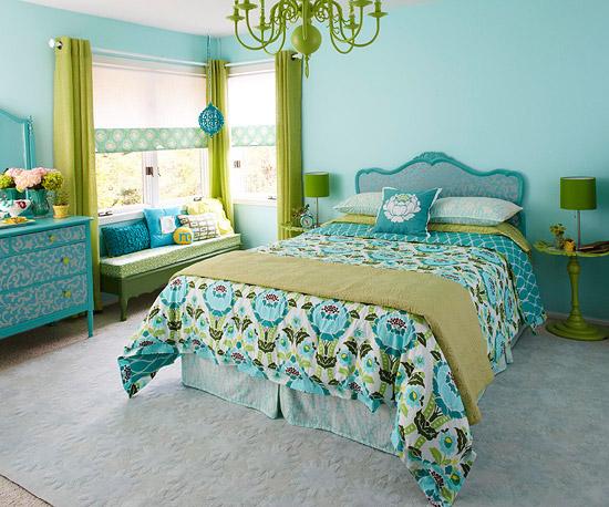 Dormitorios en verde y turquesa dormitorios con estilo for Dormitorio azul turquesa
