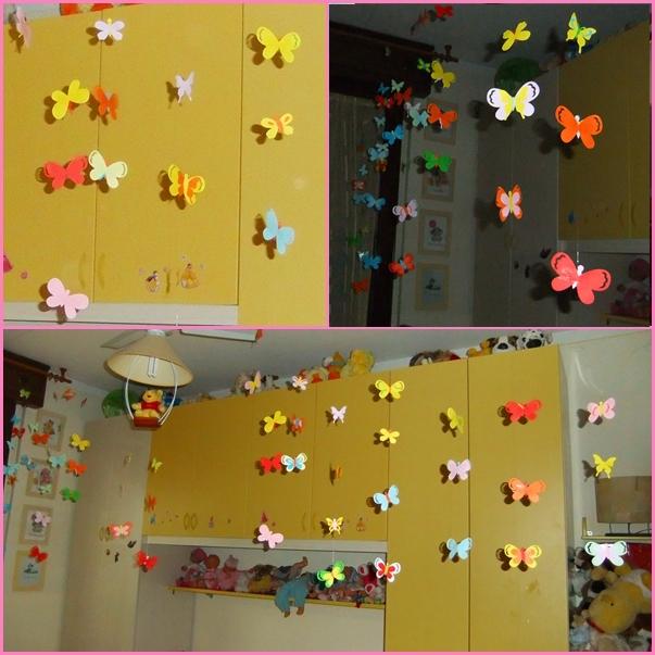 Studiamando liberamente decorazioni primaverili farfalline colorate - Decorare i vetri delle finestre ...