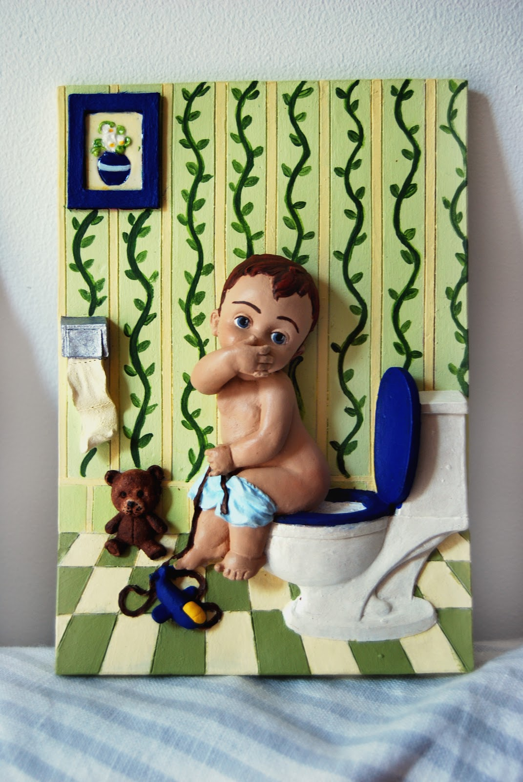 En el taller de Maribel: Cuadros para cuartos de baño