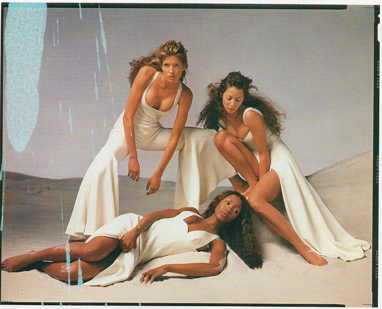 Stephanie Seymour, Christy Turlington, Naomi Campbell in a Versace campaign  photographed by Richard Avedon