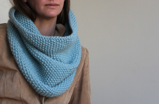 Knitting Cowls In The Round : Sweetkm seed stitch knit cowl