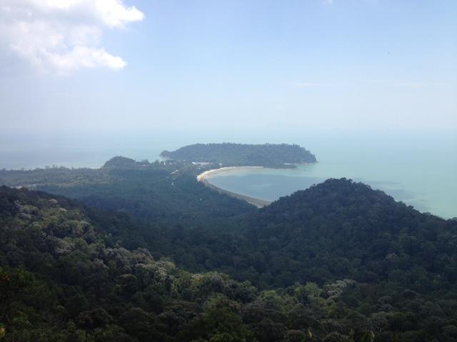 permandangan dari gunung arong