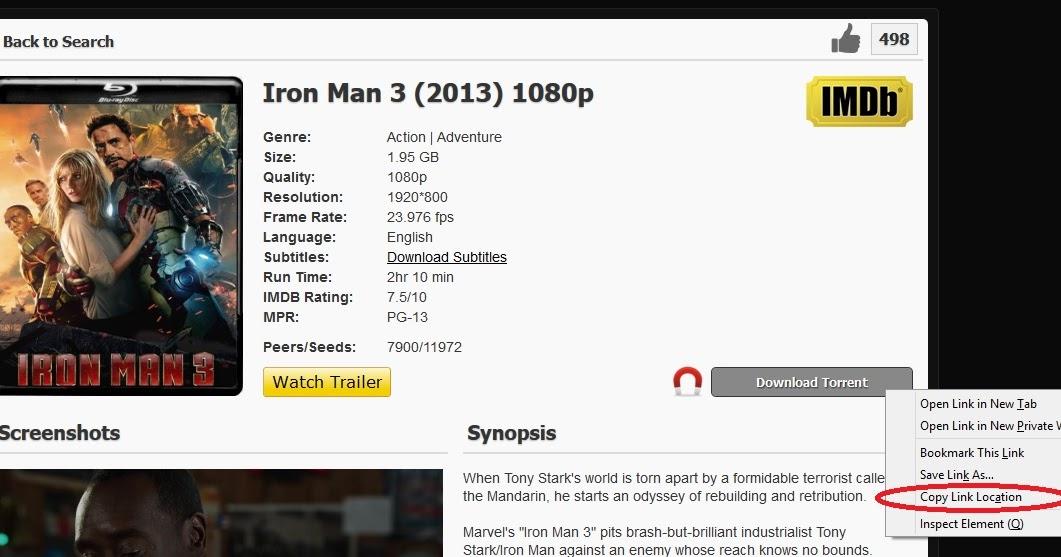 Iron Man 3 Torrents Download [BEST] yifyTorrents