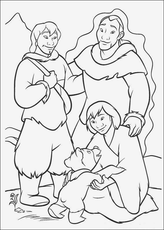 fun coloring pages brother bear coloring pages