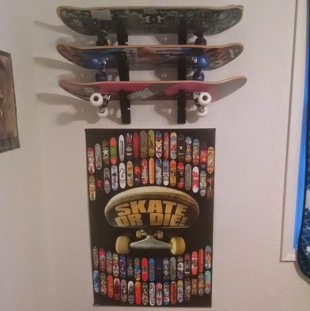 skateboard home storage rack