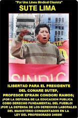 LIBERTAD PARA EFRAIN CONDORI RAMOS PRESIDENTE DEL CONARE SUTEP