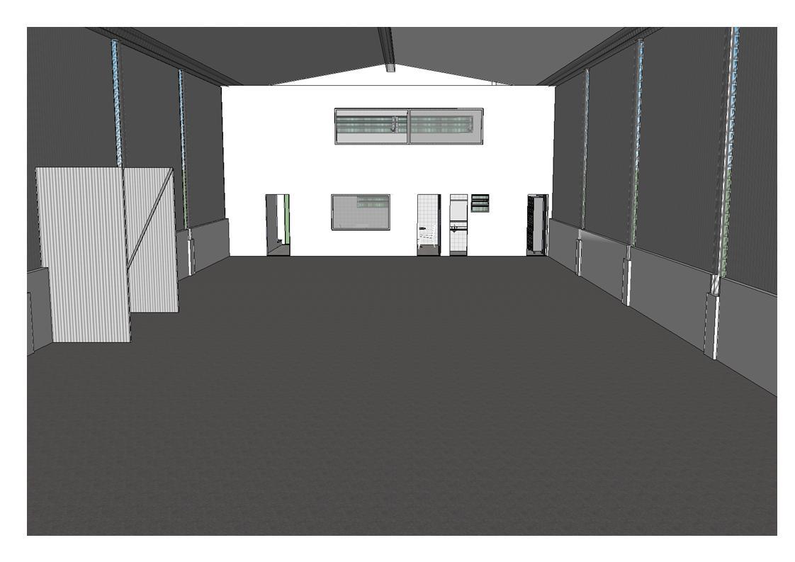 banheiro e copa e no térreo com Refeitório banheiro e vestiário #4E6B7D 1122 793
