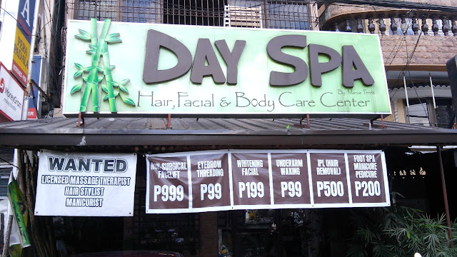 People in Tondo need not look far and wide for a skin care clinic/spa that has a classy feel but without the exorbitant price tag! Day Spa by Marvie Perez is a not so secret destination- having been serving NUMEROUS loyal patrons for a decade- from both nearby residents and those from provinces who travel here to get their beautification needs here!