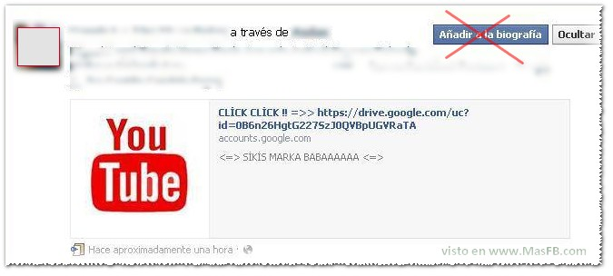 Google Drive Facebook Virus