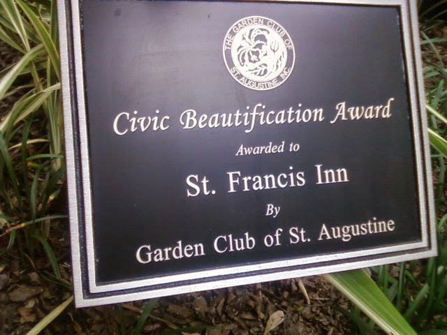 St Francis Inn's Gardeness (Our Own Garden Elf!) 26 award St. Francis Inn St. Augustine Bed and Breakfast