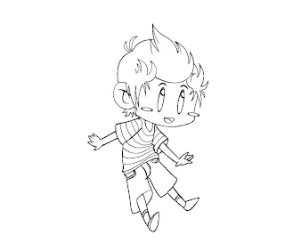 #7 Lucas Coloring Page