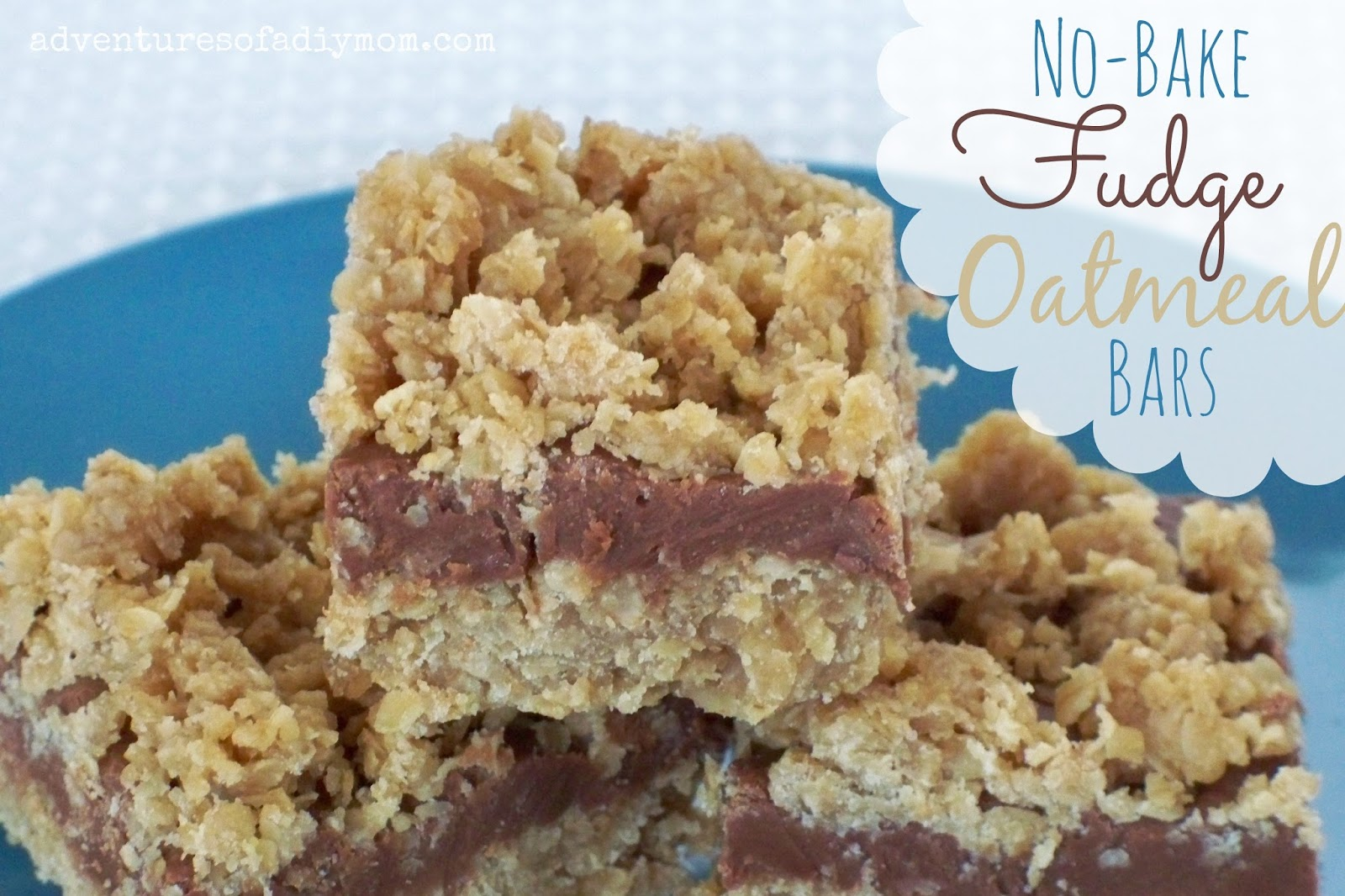 No-Bake Fudge Oatmeal Bars Recipe