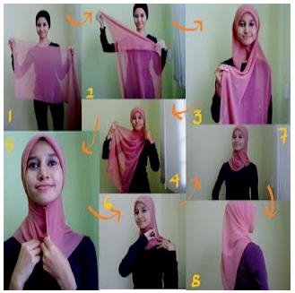 Berikut adalah cara memakai jilbab untuk pergi sekolah yang simpel dan ...
