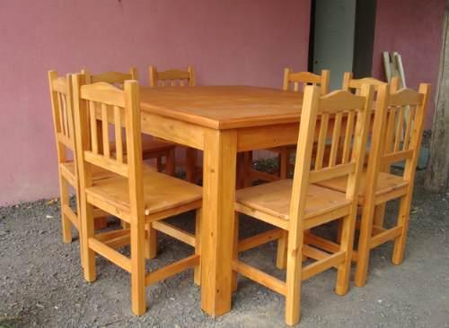 carpinteria mc mesas y sillas rusticas estilo campo