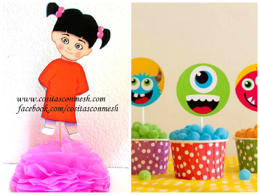 Manualidades niña boo monster inc en foami ~ cositasconmesh
