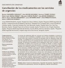 Conciliación de los medicamentos en los servicios de urgencias