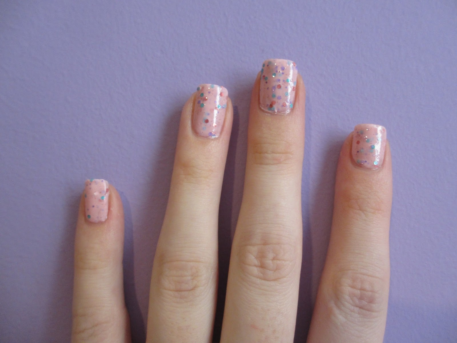 lovely me:ex yogurt nails strawberry milk